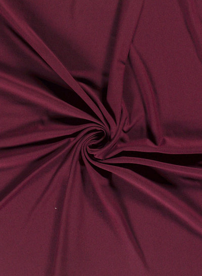 bordeaux -  effen French Terry Recycled