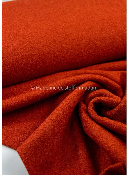 rusty - boucle woolen coat fabric