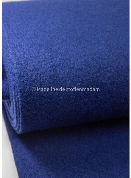 navy - boucle woolen coat fabric