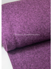 dark lila - boucle woolen coat fabric
