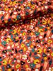 koraal bloemen - superzachte soepelvallende stof