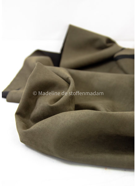 Editex khaki suede scuba - Capsule collection Bel'Etoile