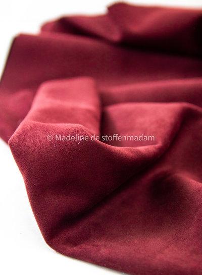 Editex burgundy - suede scuba