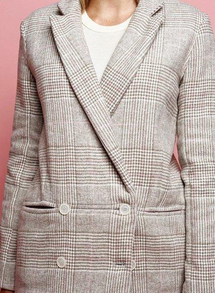La Maison Victor Nicole Blazer - cream fabric for coats - double face
