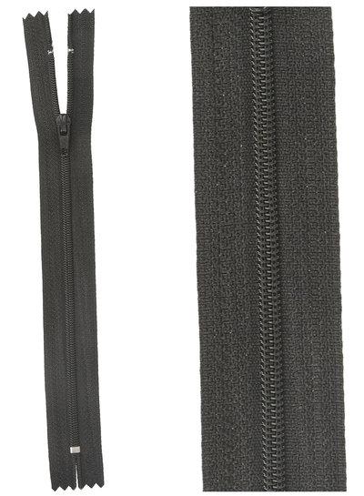 klassieke rits / rokrits  - zwart kleur 580