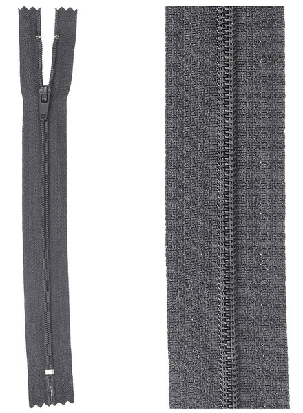 close end zipper -   anthracite color 71