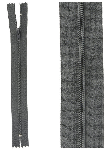close end zipper-   anthracite color 75