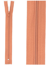 close end zipper - rust color  850