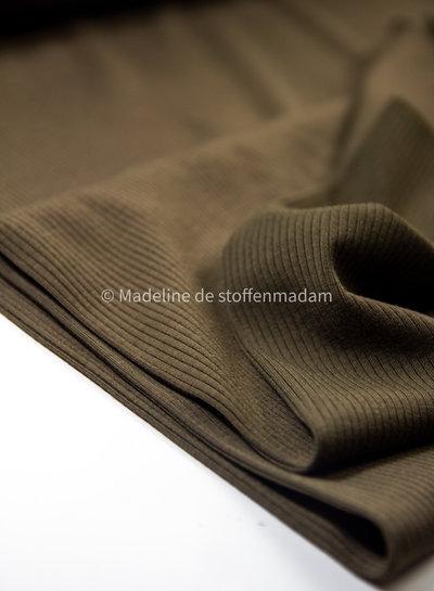 Fibremood khaki ribbed - viscose jersey