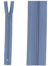 klassieke rits / rokrits  - denimblauw kleur 839