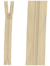 close end zipper - sand color  573