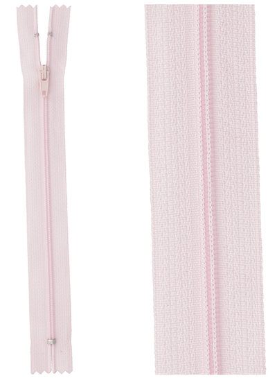 close end zipper - light pink color 512