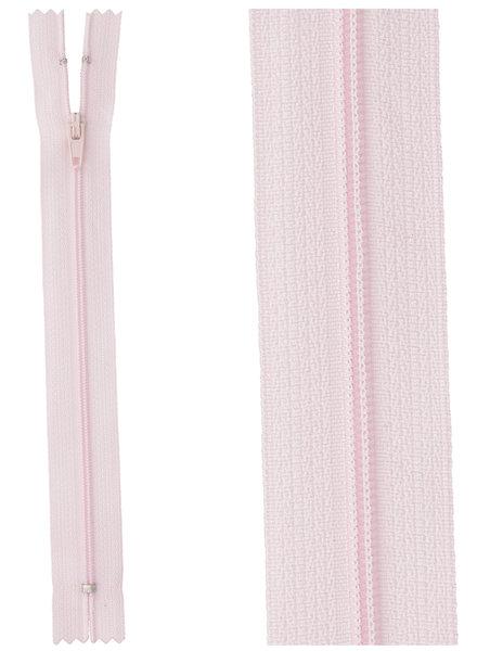 close end zipper - light pink color 512
