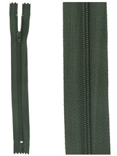close end zipper - dark green color 890