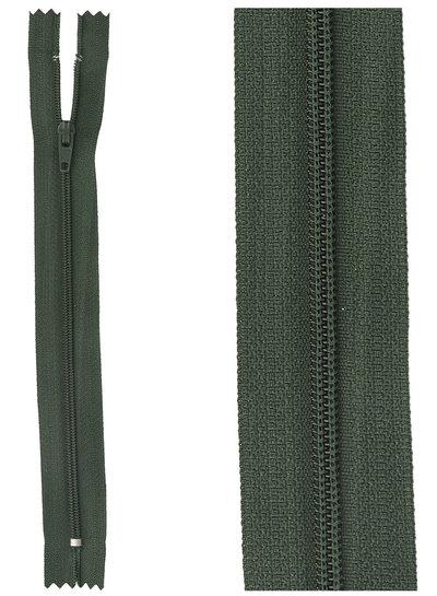 close end zipper - dark green color 890