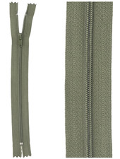 close end zipper - khaki color 567