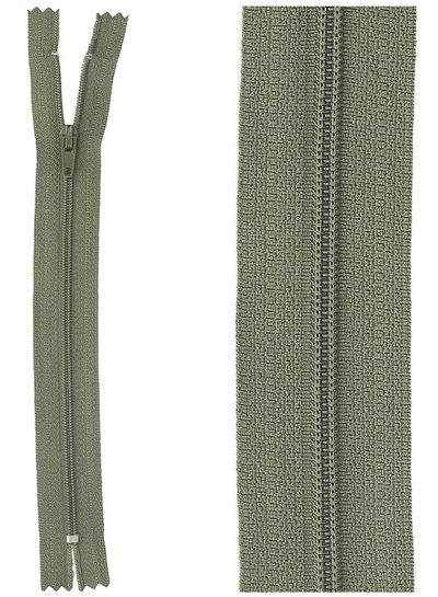 close end zipper - khaki color 567