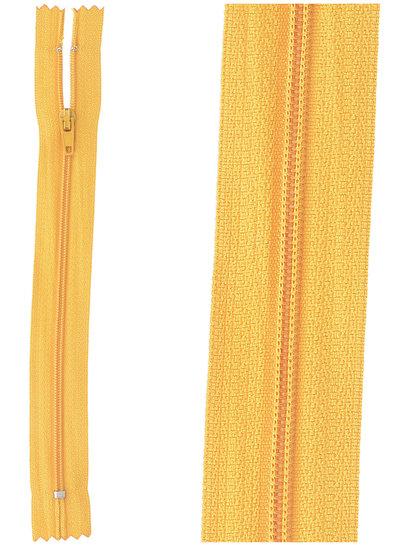 close end zipper -  ocher color 848