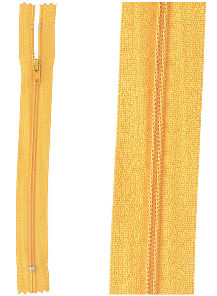 close end zipper -  ocher color 848