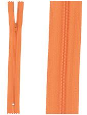 close end zipper - orange color 523