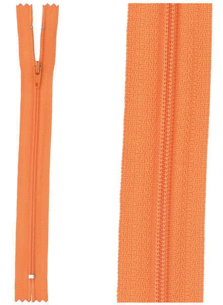 close end zipper - orange color 523