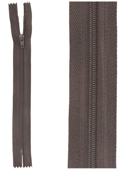 close end zipper - dark brown color  917