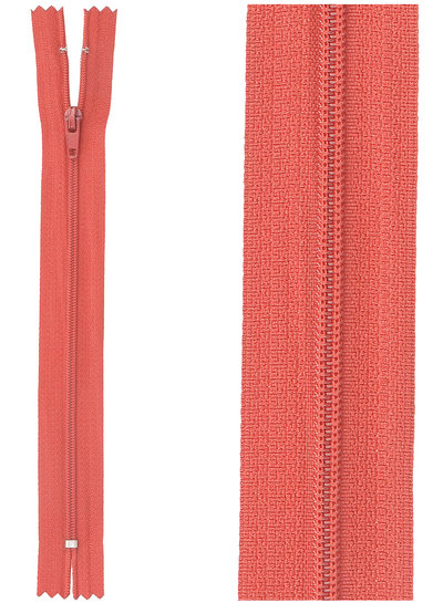 close end zipper - cherry red color 519