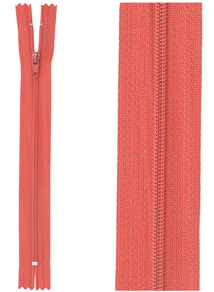 close end zipper - cherry red color 519