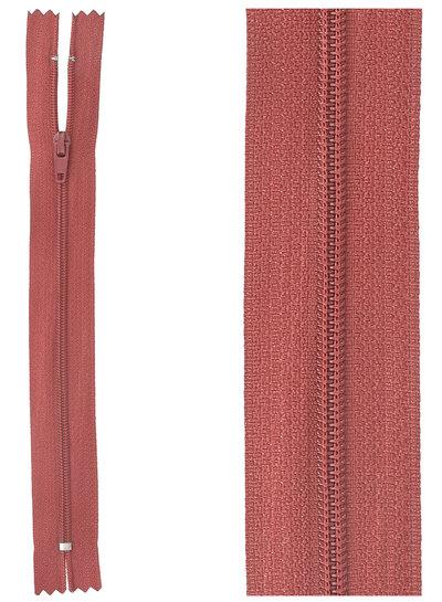 close end zipper - dark red color 520