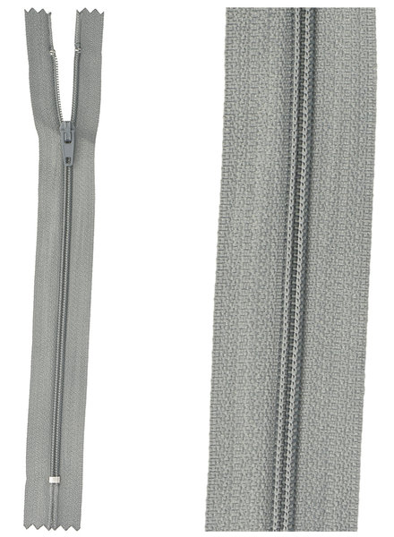 close end zipper - blue grey color 13