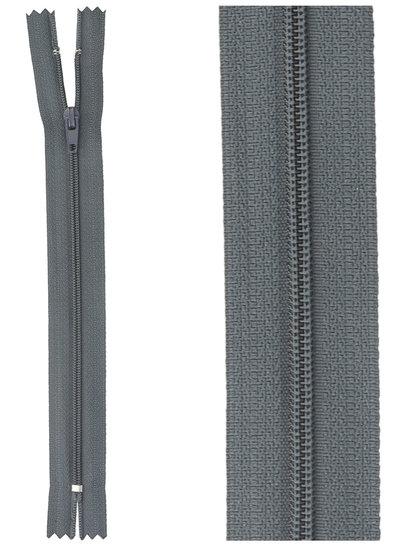 close  end zipper - blue grey color 579
