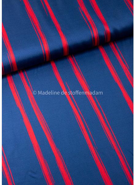 Editex red lines - viscose