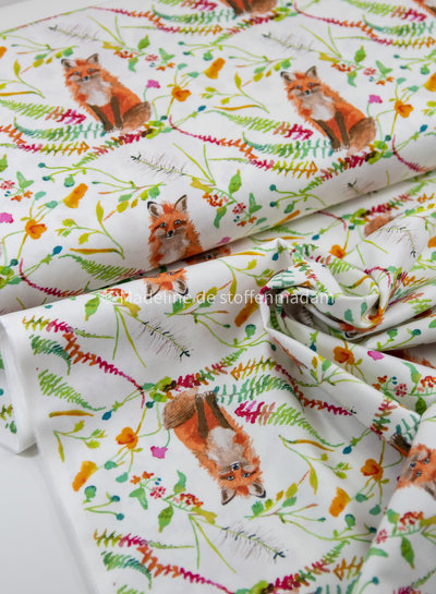 Windham Fabrics Fox Wood canvas by Betsy Olmsted