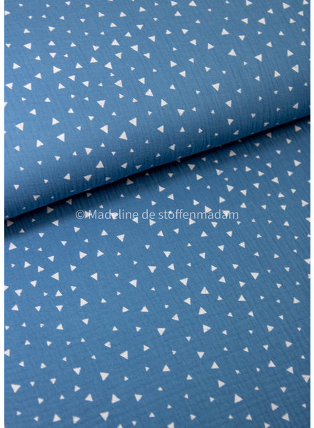 BIO jeansblauw driehoekjes - tetra