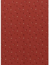 Swafing rusty colored triangles - interlock jersey