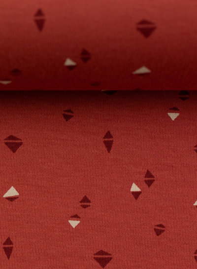 Swafing rusty colored triangles - interlock jersey