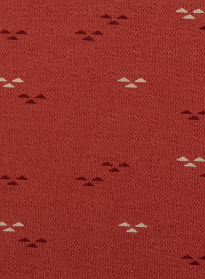 Swafing rusty colored little triangles - interlock jersey