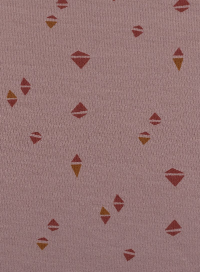 Swafing dusty pink colored triangles - interlock jersey