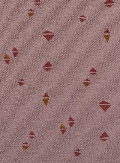 Swafing oudroze gekleurde driehoekjes - interlock tricot
