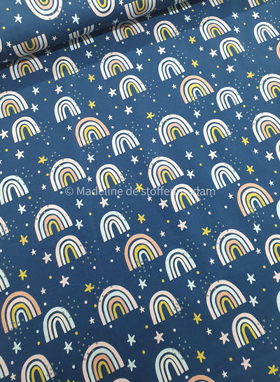 blauw kleine regenbogen- tricot