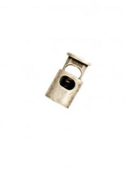 cord stopper oval nikkel - 1 piece