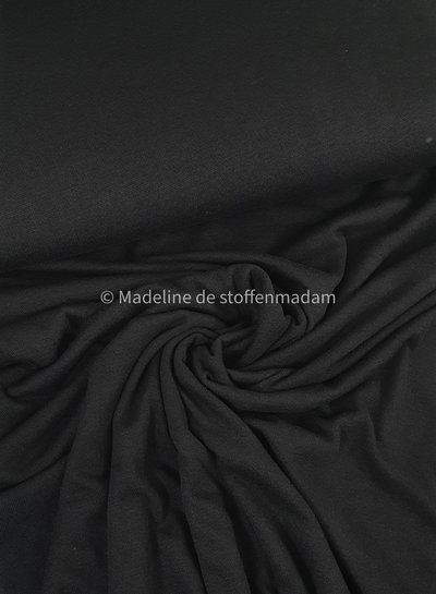 black knitted viscose