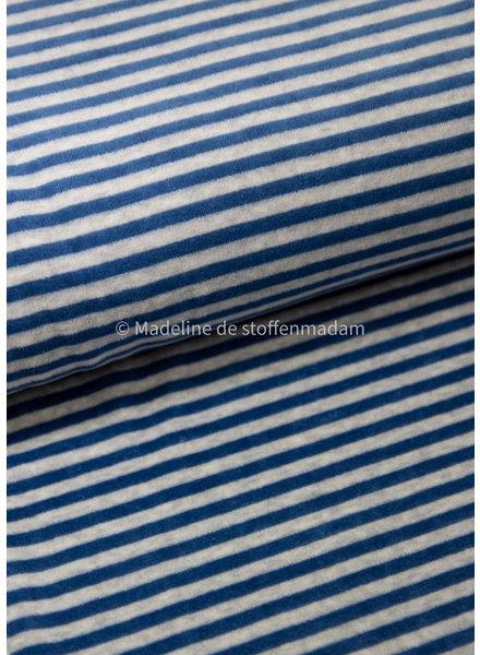 blauw gestreept - nicky velours - oeko tex