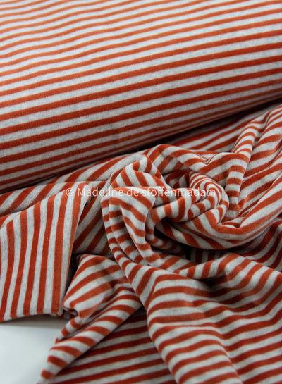 rust stripes - nicky velours - oeko tex