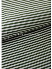 khaki stripes - nicky velours - oeko tex