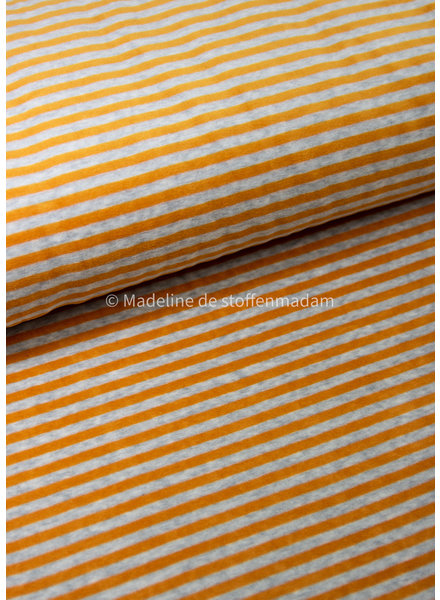yellow stripes - nicky velours - oeko tex