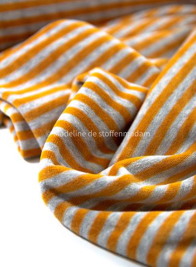 geel gestreept - nicky velours - oeko tex
