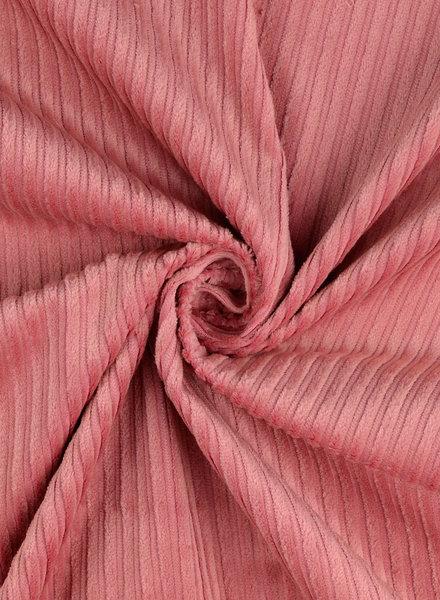 pink corduroy - retro look