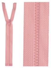 open end zipper  - dusty pink color 70