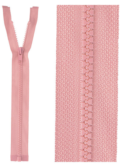 open end zipper  - dusty pink color 70